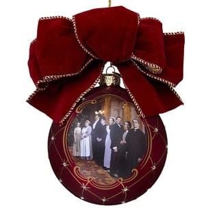 Kurt Adler 120mm Downton Abbey Glass Ball Ornament