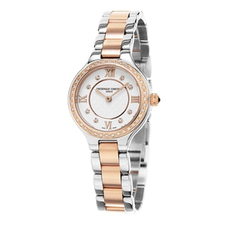 Frederique Constant Women's FC-200WHD1ERD32B 'Delight' Cream Diamond Dial Stainless Steel Two Tone Swiss Quartz Watch