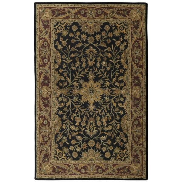 Black Wool Traditions Regal (4'x6') Rug - 4' x 6'