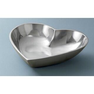 Polished Aluminum Heart Bowl