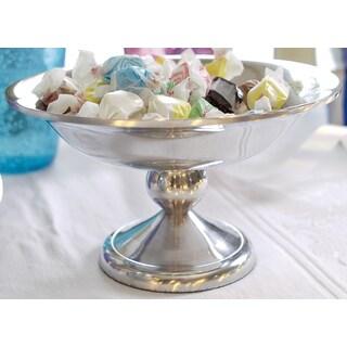"""8"""" Polished Aluminum Pedestal Bowl"""