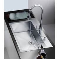 NationalWare Satin Stainless Steel 33-inch Overmount Single Bowl Kitchen Sink