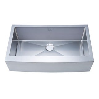 NationalWare Apron/Farmhouse Stainless Steel 36 in. Single Bowl Kitchen Sink in Stainless Steel