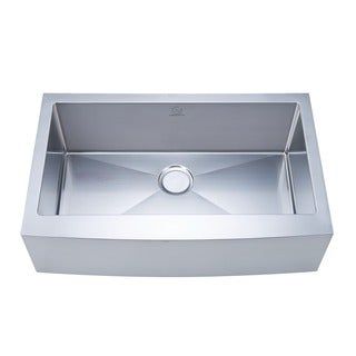 NationalWare Apron Farmhouse Stainless Steel 33-inch Single Bowl Stainless Steel Kitchen Sink
