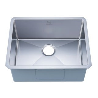 Nationalware 16-gauge Stainless Steel 23-inch Single Basin Undermount Kitchen Sink