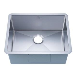 Nationalware 16-gauge Stainless Steel 23-inch Single Basin Undermount Kitchen Sink