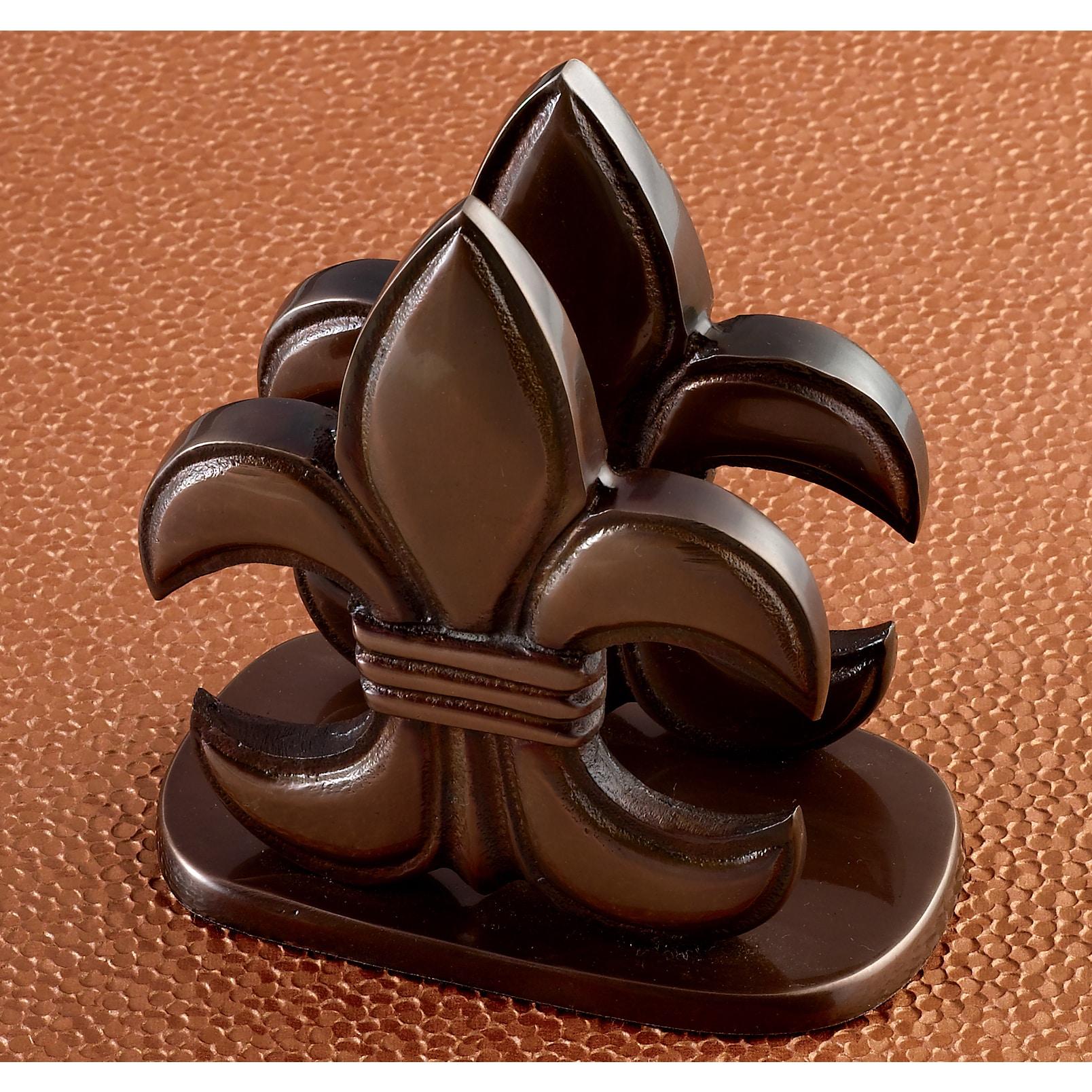St. Croix KINDWER Elegant Bronze Fleur de Lis Napkin Hold...