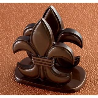 Elegant Bronze Fleur de Lis Napkin Holder