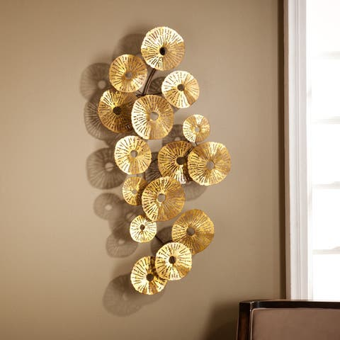The Curated Nomad Lomita Abstract Gold Finished Wall Sculpture