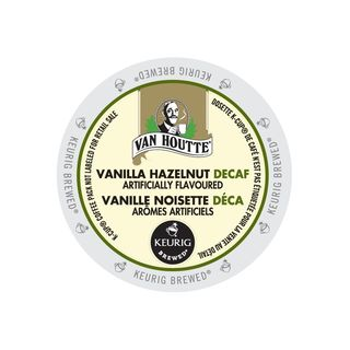 Van Houtte Vanilla Hazelnut Decaf Coffee K-Cup Portion Pack for Keurig Brewers