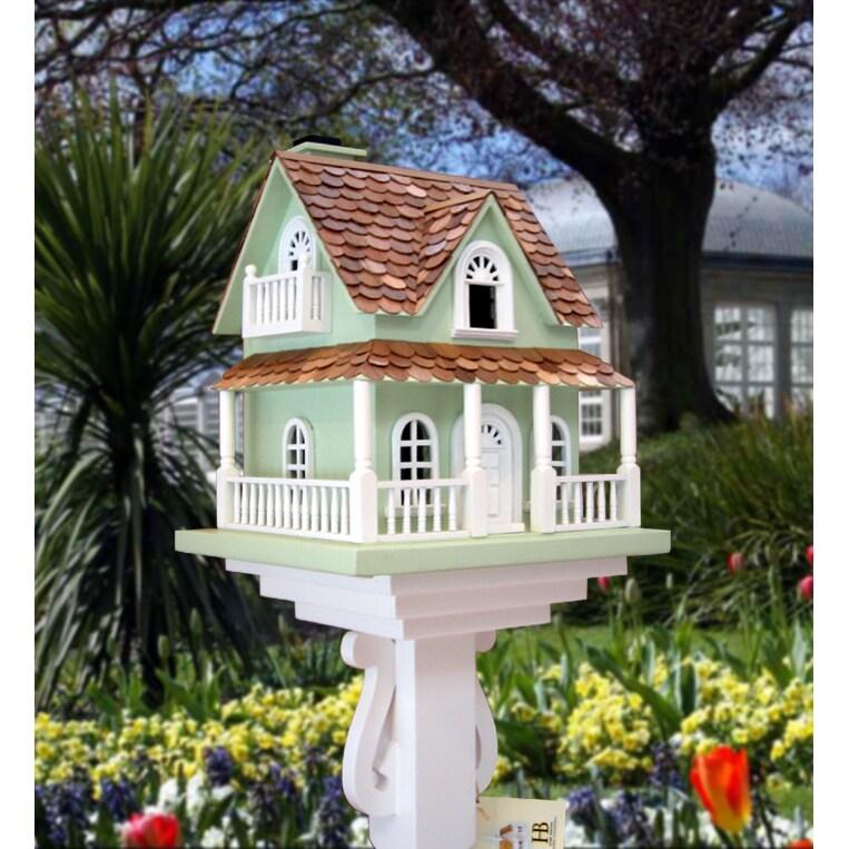 Home Bazaar The Hobbit Birdhouse (Hobbit House), Green, S...