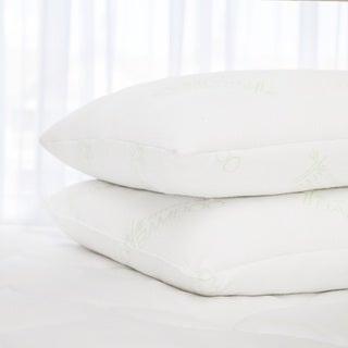 Slumber Shop Rayon from Bamboo/ Polyester Blend Jumbo Pillow (Set of 2)