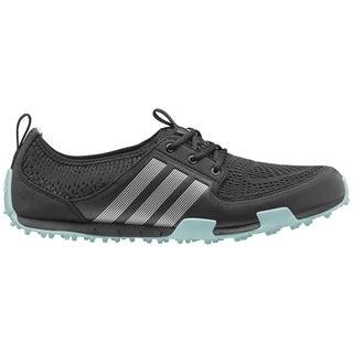 Adidas Women's Climacool Ballerina II Core Black/ Silver Metallic/ Clear Aqua Golf Shoes