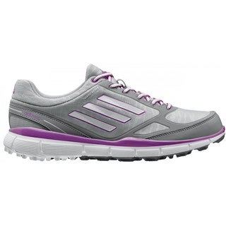 Adidas Women's Adizero Sport III Clear Onix/ White/ Flash Pink Golf Shoes