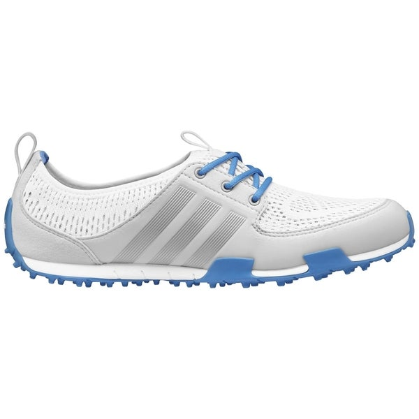 Womens Shoes adidas Golf Climacool Ballerina II Running White/Silver Metallic/Chambray