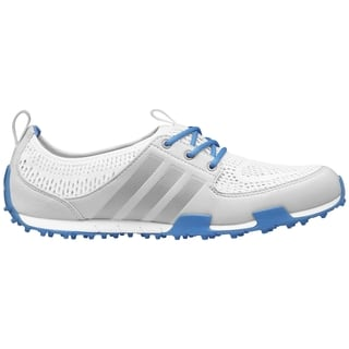 Adidas Women's Climacool Ballerina II Running White/ Silver Metallic/ Chambray Golf Shoes|https://ak1.ostkcdn.com/images/products/10596694/P17669879.jpg?impolicy=medium