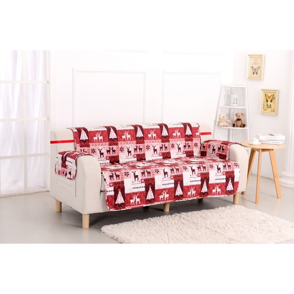 Slumber Shop Christmas Lodge Reversible Printed Sofa Protector Free Shipping On Orders Over