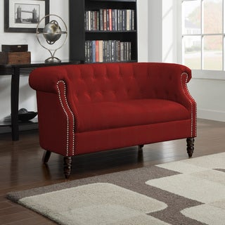 Copper Grove Muir Red Velvet Loveseat