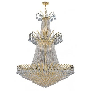 "French Empire Collection 18 Light Gold Finish and Clear Crystal Chandelier 32"" x 43"""