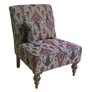 Cassidy Indigo Ikat Armless Chair 14259569 Overstock