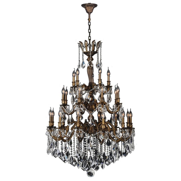 French Empire Light Clear Crystal Chandelier Gold Finish