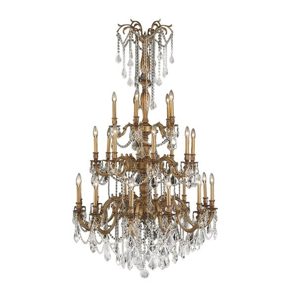 Shop italian elegance collection 25 light french gold finish crystal italian elegance collection 25 light french gold finish crystal chandelier ornate chandelier 38 aloadofball Image collections