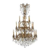 "Italian Elegance Collection 25 Light French Gold Finish Crystal Chandelier Ornate Chandelier 38"" x 6"