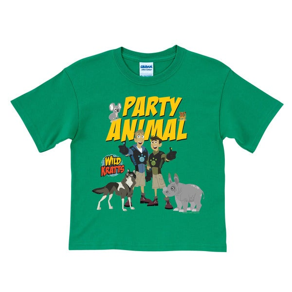 Wild Kratts Party Animal Green T Shirt Free Shipping On