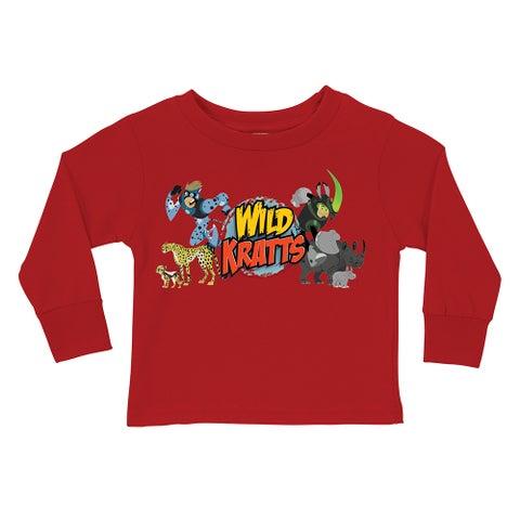 Wild Kratts Creature Adventure Red Long Sleeve Tee