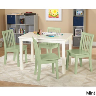 Simple Living 5-piece Alice Kids Table and Chair Set (Option: 5pc Alice Kids Set - 4 mint chairs)
