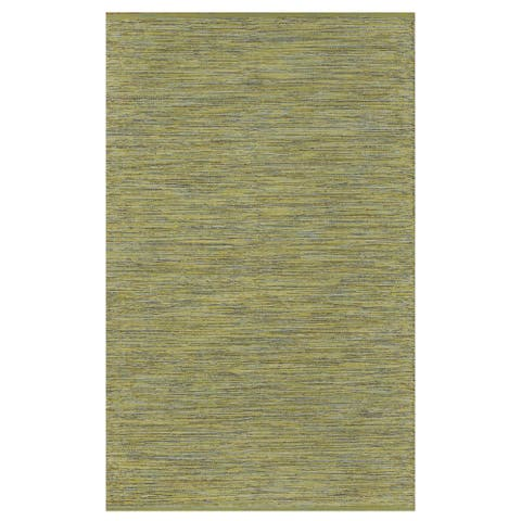 Handmade Indoor Cotton Lemon and Apple Green Rug (India) - 2' x 3'