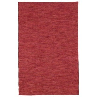Handmade Cancun Red Rug - 2' x 3' (India)