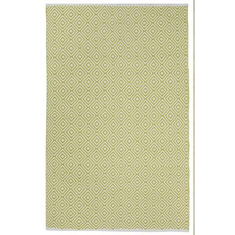 Handmade Indoor Cotton Veria Green Rug (India) - 2' x 3'