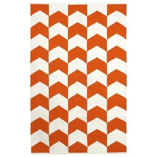 Metropolitan - Orange Peel & Bright White (2' x 3')