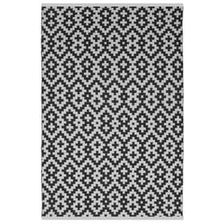 Samsara Black/ White Area Rug (2' x 3')