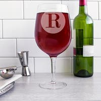 Personalized 25-ounce Novelty XL Wine Glass - 25 oz