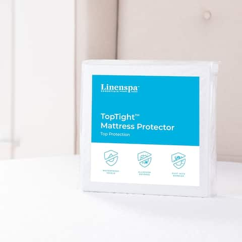 TopTight Premium Mattress Protector by Linenspa Essentials - White