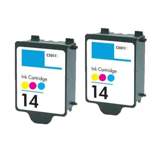2 PK C5011AN HP 14 Color Compatible Ink Cartridge For HP ImageClass CP1160 Officejet D135 D155 Copier 610 (pack of 2)