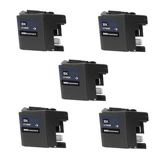 5 PK LC10EBK XXL Compatible Ink Cartridge For Brother MFC-J6925DW Printer (pack of 5)