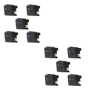 10 PK LC10EBK XXL Compatible Ink Cartridge For Brother MFC-J6925DW Printer (pack of 10)