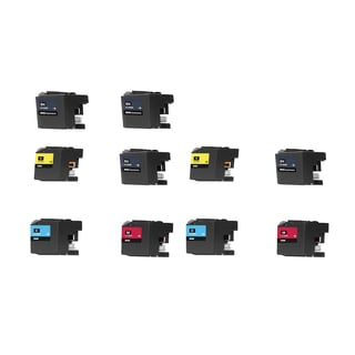 10 PK LC10E XXL 4 x BK + 2 x CMY Compatible Ink Cartridge For Brother MFC-J6925DW Printer (pack of 10)