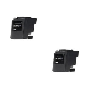 2 PK LC20EBK XXL Compatible Ink Cartridge For Brother FCJ5920DW (pack of 2)