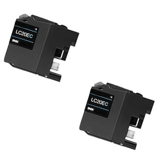 2 PK LC20EC XXL Compatible Ink Cartridge For Brother FCJ5920DW (pack of 2)