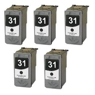 5 Pack PG-31 Compatible Ink Cartridge For Canon Pixma MP210 MP140Pixma (pack of 5)