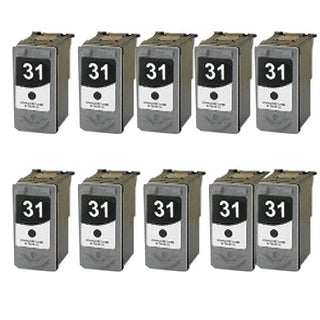 10 Pack PG-31 Compatible Ink Cartridge For Canon Pixma MP210 MP140Pixma (pack of 10)