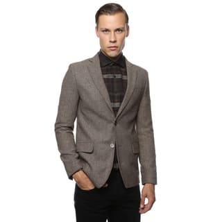 Zonettie by Ferrecci Mens Super Slim Fit Herringbone Blazer|https://ak1.ostkcdn.com/images/products/10597265/P17670369.jpg?impolicy=medium