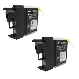 2 PK Compatible LC61BK Inkjet Cartridge For Brother DCP-165c MFCAN-290C (Pack of 2)