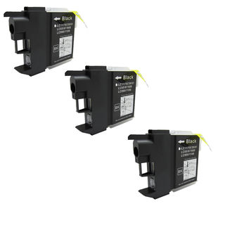 3 PK Compatible LC61BK Inkjet Cartridge For Brother DCP-165c MFCAN-290C (Pack of 3)