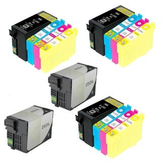 14PK 5XT252XL BK + 3XCMY Compatible Inkjet Cartridge For Epson WF-3640 WF-7110 (Pack of 14)