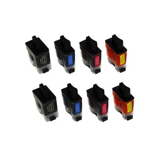8 PK Compatible LC41 2 Set Inkjet Cartridge For Brother FAX1840C 1940CN 2440C (Pack of 8)